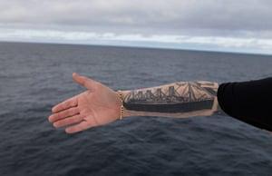 Titanic anniversary: Titanic tattoo