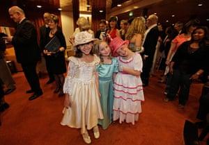Titanic anniversary: Girls in costume