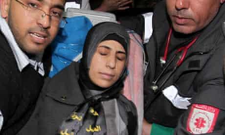 Hana Shalabi arrives in Gaza City