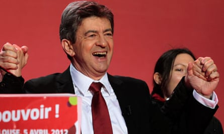 French presidential candidate Jean-Luc Melenchon
