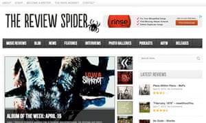 Music blog The Review Spider
