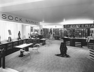 Jaeger: March 1935: The interior of one of the departments at Jaeger's store