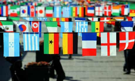 Flags of countries competing in the 2010
