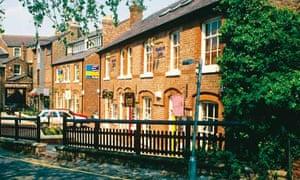UK Cheshire Altrincham Goose Green terraced houses