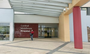 Central Middlesex Hospital, where x-ray records of 6,000 patients were mislaid by Care UK
