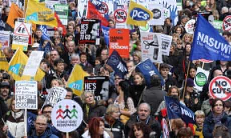 Public sector pensions protesters in London on 30 November