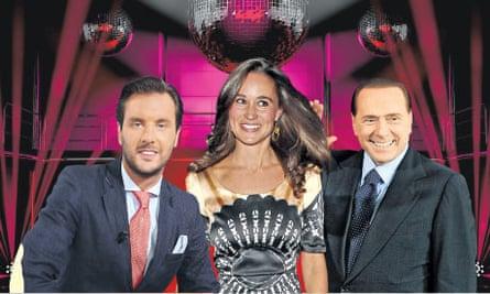 Arthur de Soultrait, Pippa Middleton and Silvio Berlusconi