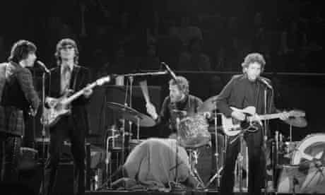 Levon Helm with the Band and Bob Dylan