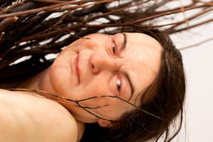 Ron Mueck exhibition: 'Woman with sticks' 2008, (Mixed Media) by Ron Mueck