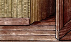 Clifford Harper illustration of a door standing ajar