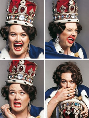 Alan Carr dressed as the Queen