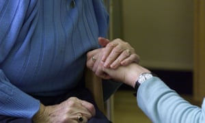 Care worker with elderly person