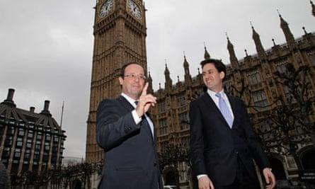 Ed Miliband and François Hollande