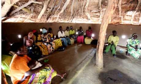 A meeting of the Village Saving and Loan Association in Katine,