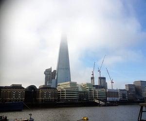 Shard: The Shard London Bridge half hidden by low cloud