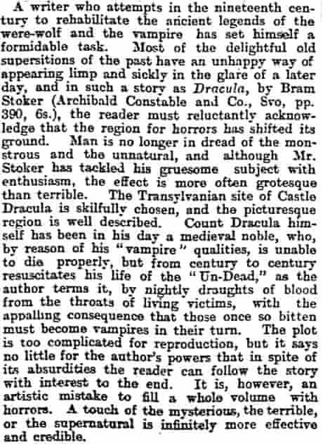 Dracula review 1897