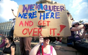 Big Picture: Big Picture: Placard with pro gay slogans