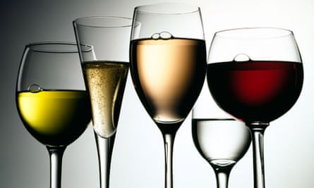 Different shaped wine glasses