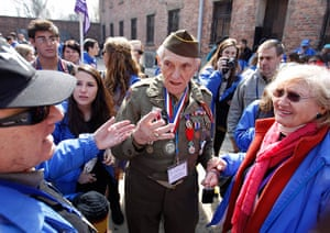 Holocaust memorial: Mickey Dorsey of the 71st Infantry Division at Auschwitz in Oswiecim