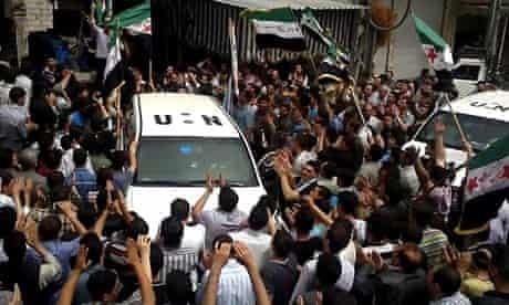 UN syria protest