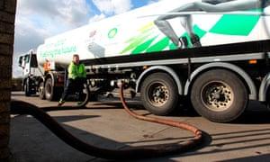 Fuel tanker driver