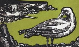 Detail from John Griffiths's cover illustration for White Maa's Saga by Eric Linklater, 1963.