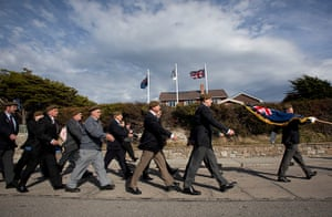 Falklands war anniversary: Veterans attend the commemoration of the 30th anniversary of Falkland War
