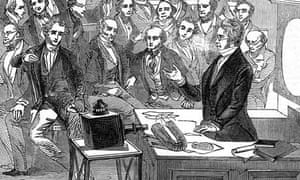 Michael Faraday lectures at the Royal Institution London