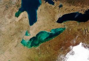 Satellite Eye on Earth:  Lake Erie