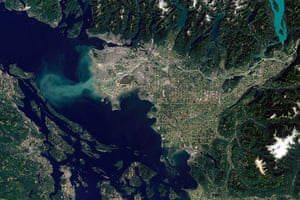 Satellite Eye on Earth: the Fraser River in Vancouver , Canada