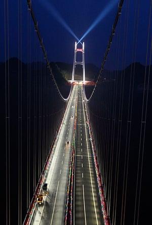 Suspension bridge: Aizhai long-span suspension bridge