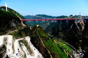 Suspension bridge: Aizhai Long-span Suspension