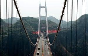 Suspension bridge: Aizhai Suspension Bridge Opens To Traffic