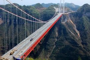 Suspension bridge: The Aizhai suspension bridge