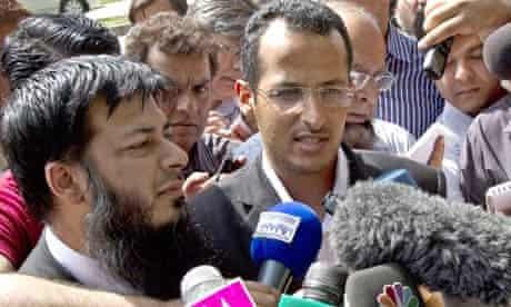 Bin Laden lawyers speaks to press