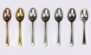Spoons made from different metals