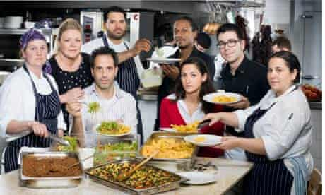 Yotam Ottollenghi, third left, and the team from NOPI