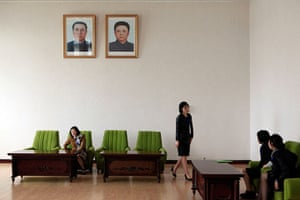 Longer view: North Koreans in a waiting room