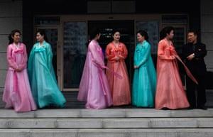 Longer view: Women in traditional Korean costume