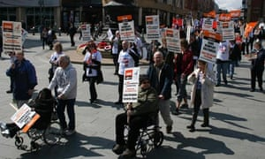 Remploy protesters in Sheffield