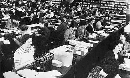 Secretaries at work circa 1935