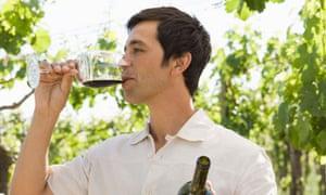 drinking wine outside