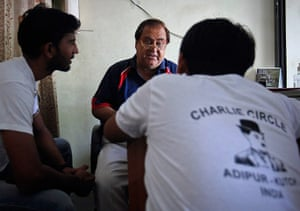 From the Agencies: Ashok Aswani speaks to members of the fan club inside his clinic