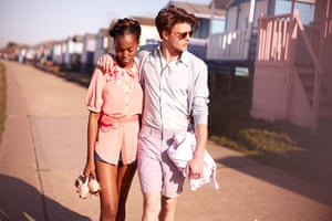 Ice ice baby: Walking by beach huts