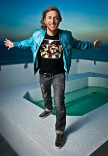 DJ David Guetta photographed at the Soho Beach House, Miami Beach