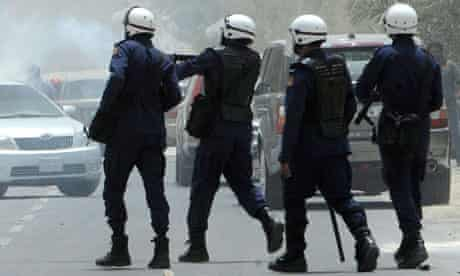 Bahrain security forces fire teargas at protesters