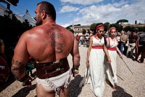 Rome birthday parade: Rome commemoraration parade