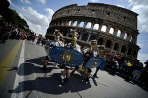 Rome birthday parade: Rome commemoration parade