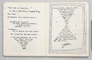 Glasgow International: A spread from Paul Thek's notebook No 63, 1974, at the Modern Institute