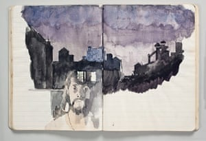 Glasgow International: A spread from Paul Thek's notebook No 34, 1972, at the Modern Institute